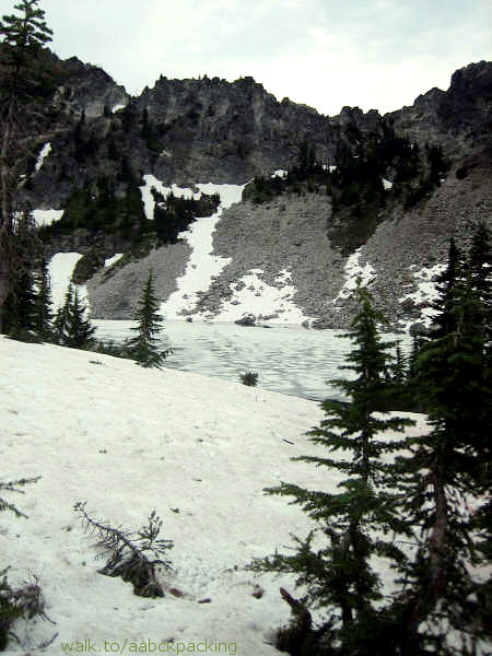 Snow at the Far End of Minotaur Lake